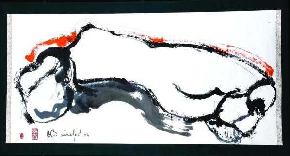 Sumi-e - Volterra - Alain Bonnefoit